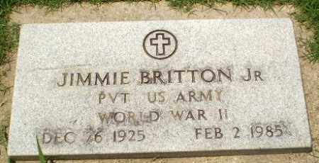 BRITTON, JR (VETERAN WWII), JIMMIE - Craighead County, Arkansas | JIMMIE BRITTON, JR (VETERAN WWII) - Arkansas Gravestone Photos