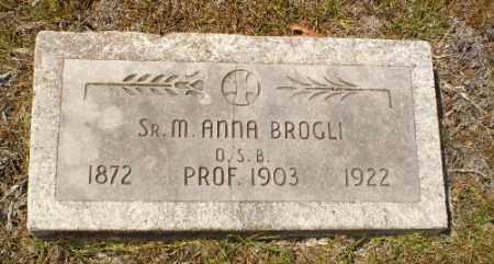 BROGLI, SISTER M. ANNA - Craighead County, Arkansas | SISTER M. ANNA BROGLI - Arkansas Gravestone Photos