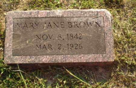 BROWN, MARY JANE - Craighead County, Arkansas | MARY JANE BROWN - Arkansas Gravestone Photos