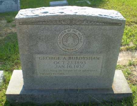 BURDYSHAW, GEORGE A - Craighead County, Arkansas | GEORGE A BURDYSHAW - Arkansas Gravestone Photos
