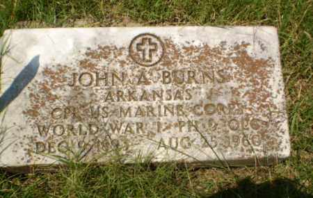 BURNS (VETERAN WWI), JOHN A - Craighead County, Arkansas | JOHN A BURNS (VETERAN WWI) - Arkansas Gravestone Photos