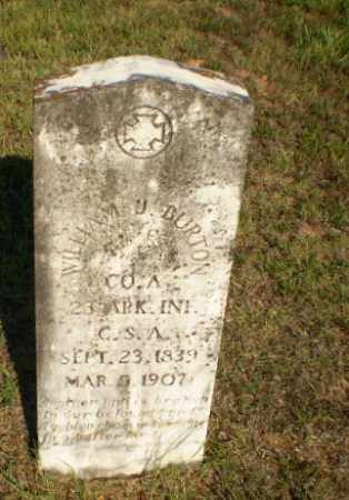 BURTON  (VETERAN CSA), WILLIAM J - Craighead County, Arkansas | WILLIAM J BURTON  (VETERAN CSA) - Arkansas Gravestone Photos