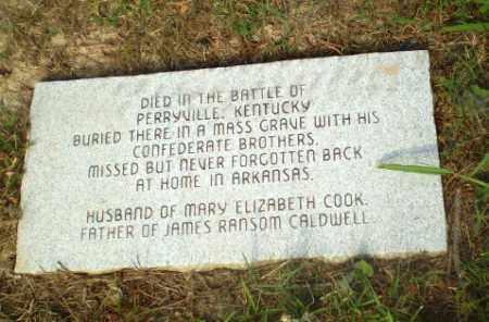 CALDWELL  MEMORIAL, PLAQUE - Craighead County, Arkansas | PLAQUE CALDWELL  MEMORIAL - Arkansas Gravestone Photos