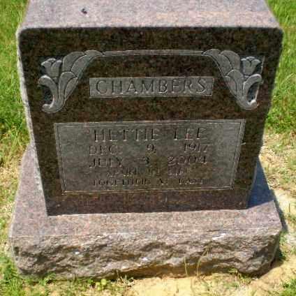 LEE CHAMBERS, HETTIE - Craighead County, Arkansas | HETTIE LEE CHAMBERS - Arkansas Gravestone Photos