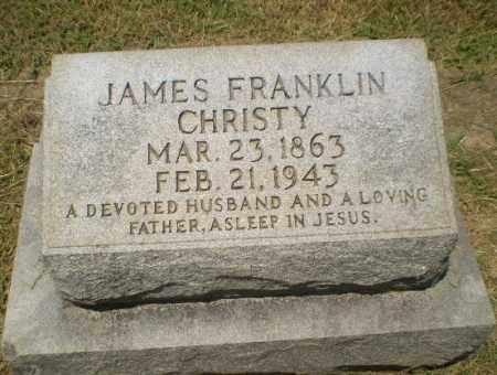 CHRISTY, JAMES FRANKLIN - Craighead County, Arkansas | JAMES FRANKLIN CHRISTY - Arkansas Gravestone Photos