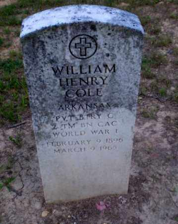COLE  (VETERAN WWI), WILLIAM HENRY - Craighead County, Arkansas | WILLIAM HENRY COLE  (VETERAN WWI) - Arkansas Gravestone Photos