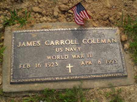 COLEMAN  (VETERAN WWII), JAMES CARROLL - Craighead County, Arkansas | JAMES CARROLL COLEMAN  (VETERAN WWII) - Arkansas Gravestone Photos