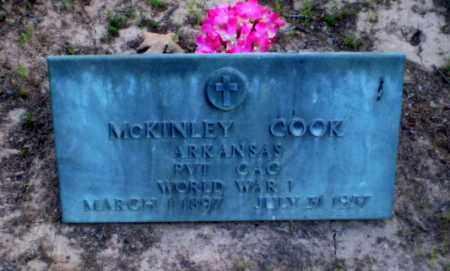 COOK   (VETERAN WWI), MCKINLEY - Craighead County, Arkansas | MCKINLEY COOK   (VETERAN WWI) - Arkansas Gravestone Photos