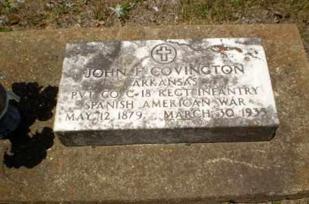 COVINGTON  (VETERAN SAW), JOHN F - Craighead County, Arkansas | JOHN F COVINGTON  (VETERAN SAW) - Arkansas Gravestone Photos