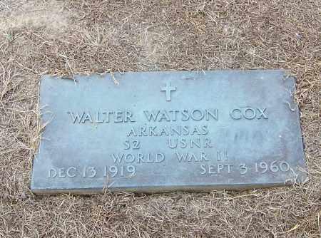 COX  (VETERAN  WWII), WALTER WATSON - Craighead County, Arkansas   WALTER WATSON COX  (VETERAN  WWII) - Arkansas Gravestone Photos