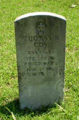 COY (VETERAN WWII), THOMAS B. - Craighead County, Arkansas | THOMAS B. COY (VETERAN WWII) - Arkansas Gravestone Photos