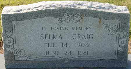 CRAIG, SELMA - Craighead County, Arkansas | SELMA CRAIG - Arkansas Gravestone Photos