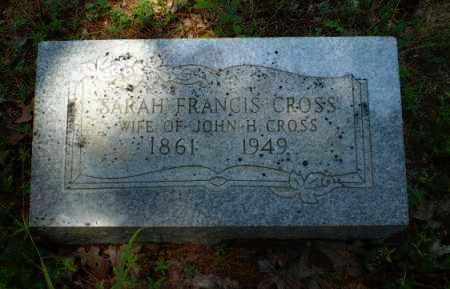 FRANCIS CROSS, SARAH - Craighead County, Arkansas | SARAH FRANCIS CROSS - Arkansas Gravestone Photos