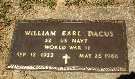 DACUS  (VETERAN WWII), WILLIAM EARL - Craighead County, Arkansas   WILLIAM EARL DACUS  (VETERAN WWII) - Arkansas Gravestone Photos