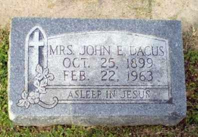 DACUS, MRS JOHN E - Craighead County, Arkansas | MRS JOHN E DACUS - Arkansas Gravestone Photos