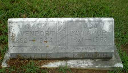 DAVENPORT, G.D. - Craighead County, Arkansas | G.D. DAVENPORT - Arkansas Gravestone Photos