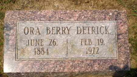 DETRICK, ORA BERRY - Craighead County, Arkansas | ORA BERRY DETRICK - Arkansas Gravestone Photos