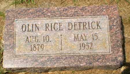DETRICK, OLIN RICE - Craighead County, Arkansas   OLIN RICE DETRICK - Arkansas Gravestone Photos