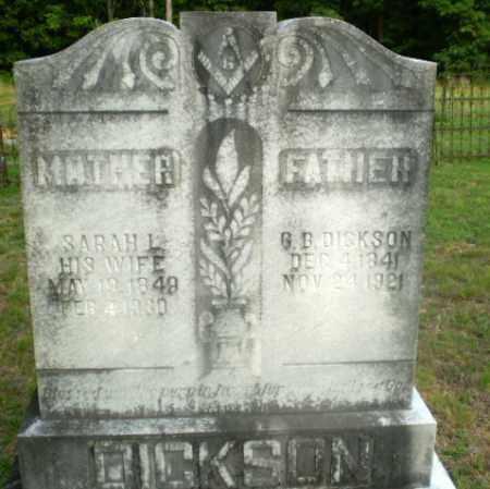 DICKSON, G.B. - Craighead County, Arkansas | G.B. DICKSON - Arkansas Gravestone Photos