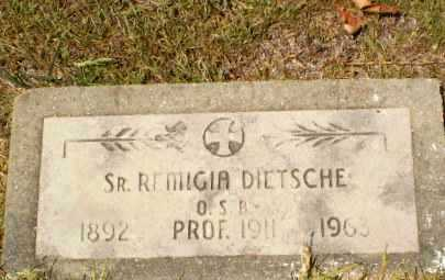 DIETSCHE, SISTER M. REMIGIA - Craighead County, Arkansas   SISTER M. REMIGIA DIETSCHE - Arkansas Gravestone Photos