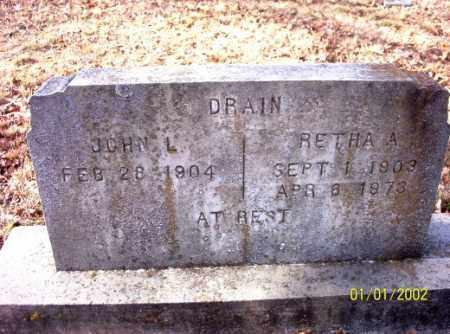 DRAIN, RETHA  A. - Craighead County, Arkansas | RETHA  A. DRAIN - Arkansas Gravestone Photos