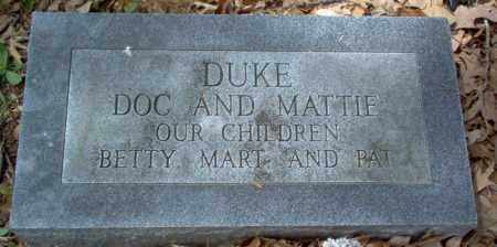 "DUKE, GEORGE WASHINGTON MILES ""DOC"" - Craighead County, Arkansas 