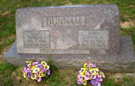 DUNNAM, THOMAS E - Craighead County, Arkansas | THOMAS E DUNNAM - Arkansas Gravestone Photos