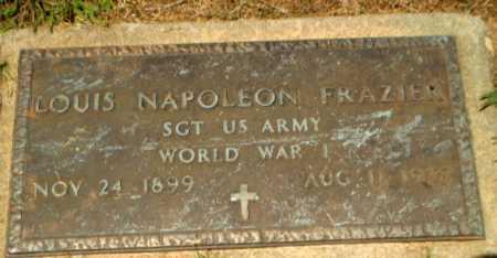 FRAZIER  (VETERAN WWI), LOUIS NAPOLEON - Craighead County, Arkansas   LOUIS NAPOLEON FRAZIER  (VETERAN WWI) - Arkansas Gravestone Photos