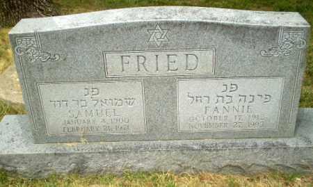 FRIED, FANNIE - Craighead County, Arkansas | FANNIE FRIED - Arkansas Gravestone Photos
