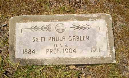 GABLER, SISTER M. PAULA - Craighead County, Arkansas | SISTER M. PAULA GABLER - Arkansas Gravestone Photos