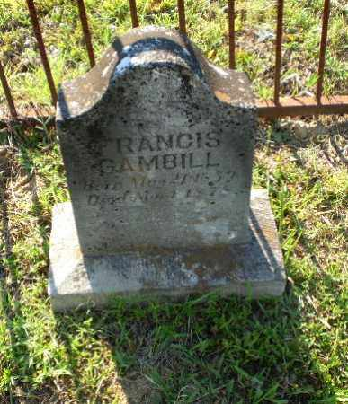 GAMBILL, FRANCIS - Craighead County, Arkansas | FRANCIS GAMBILL - Arkansas Gravestone Photos