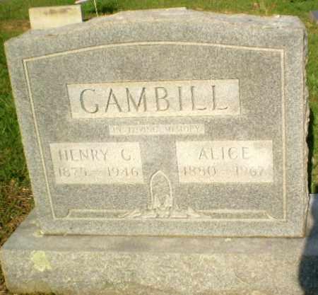 GAMBILL, ALICE - Craighead County, Arkansas | ALICE GAMBILL - Arkansas Gravestone Photos