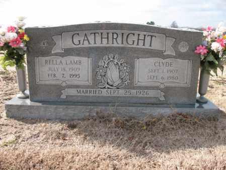 LAMB GATHRIGHT, RELLA - Craighead County, Arkansas | RELLA LAMB GATHRIGHT - Arkansas Gravestone Photos
