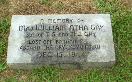 GAY (VETERAN WWII, KIA), WILLIAM ATHA - Craighead County, Arkansas | WILLIAM ATHA GAY (VETERAN WWII, KIA) - Arkansas Gravestone Photos