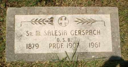 GERSPACH, SISTER M. SALESIA - Craighead County, Arkansas | SISTER M. SALESIA GERSPACH - Arkansas Gravestone Photos