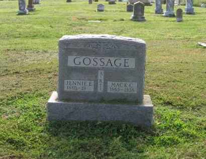 GOSSAGE, JENNIE ELLA - Craighead County, Arkansas | JENNIE ELLA GOSSAGE - Arkansas Gravestone Photos