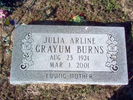 LOWE GRAYUM BURNS, JULIA ARLINE - Craighead County, Arkansas | JULIA ARLINE LOWE GRAYUM BURNS - Arkansas Gravestone Photos