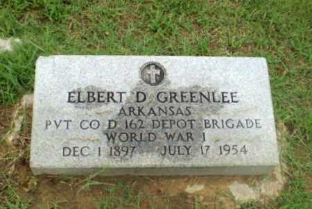 GREENLEE  (VETERAN WWI), ELBERT D - Craighead County, Arkansas   ELBERT D GREENLEE  (VETERAN WWI) - Arkansas Gravestone Photos