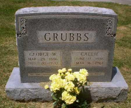 GRUBBS, GEORGE W - Craighead County, Arkansas | GEORGE W GRUBBS - Arkansas Gravestone Photos