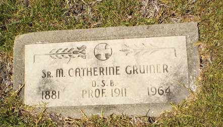 GRUINER, SISTER M. CATHERINE - Craighead County, Arkansas | SISTER M. CATHERINE GRUINER - Arkansas Gravestone Photos