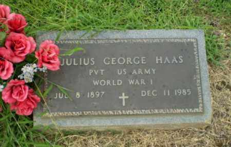HAAS (VETERAN WWI), JULIUS GEORGE - Craighead County, Arkansas | JULIUS GEORGE HAAS (VETERAN WWI) - Arkansas Gravestone Photos
