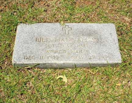 HANNAH  (VETERAN WWII), BILL - Craighead County, Arkansas   BILL HANNAH  (VETERAN WWII) - Arkansas Gravestone Photos