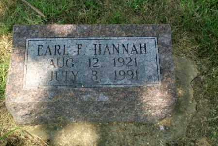 HANNAH, EARL F - Craighead County, Arkansas | EARL F HANNAH - Arkansas Gravestone Photos