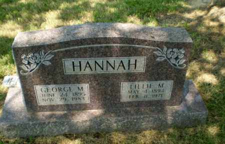 HANNAH, GEORGE M - Craighead County, Arkansas | GEORGE M HANNAH - Arkansas Gravestone Photos
