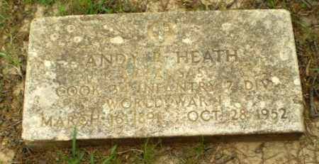 HEATH  (VETERAN WWI), ANDY - Craighead County, Arkansas | ANDY HEATH  (VETERAN WWI) - Arkansas Gravestone Photos