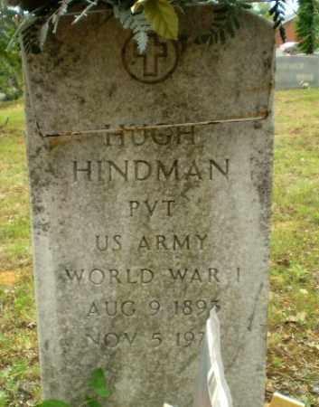 HINDMAN  (VETERAN WWI), HUGH - Craighead County, Arkansas | HUGH HINDMAN  (VETERAN WWI) - Arkansas Gravestone Photos