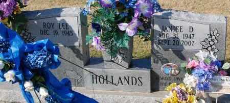 HOLLANDS, JANICE D - Craighead County, Arkansas | JANICE D HOLLANDS - Arkansas Gravestone Photos