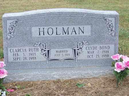 HOLMAN, CLYDE BOND - Craighead County, Arkansas | CLYDE BOND HOLMAN - Arkansas Gravestone Photos