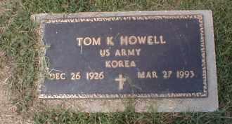 HOWELL (VETERAN KOR), TOM K. - Craighead County, Arkansas | TOM K. HOWELL (VETERAN KOR) - Arkansas Gravestone Photos