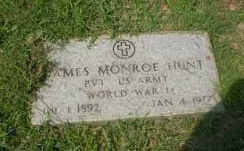 HUNT  (VETERAN WWI), JAMES MONROE - Craighead County, Arkansas   JAMES MONROE HUNT  (VETERAN WWI) - Arkansas Gravestone Photos